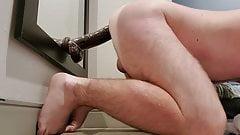 Thick booty takes BBC dildo deep