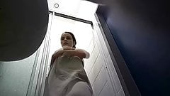 Milf Brunette taking a shower - Hidden Cam Clip