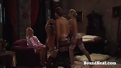 Lesbian Schoolgirls In Bondage Whipped And Stamped By Teache