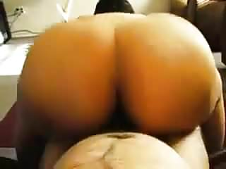 Up and Down Wide Round Bbw Butt On His Bone