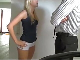 Sexy Teen Gets Fucked by Her Daddy with Monster Cock