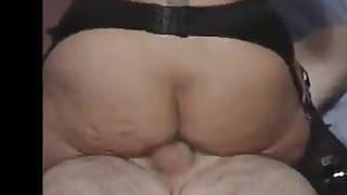 Fucking my wifes big saggy boob friend