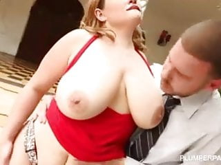 Sexy Busty BBW MILF Takes Hard Cock Deep in Her Ass