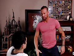 Pervert Michael Roman punishes Xavier Ryan with hard cock