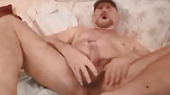 Very handsome daddy wanking