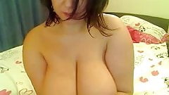 BBW brunette webcam, nice hangers 2