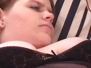 Hot brunette BBW sucks cock before getting her pussy and ass pounded