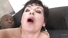 Granny Hardcore Fucked by Black Man in her Tight Ass Loves A