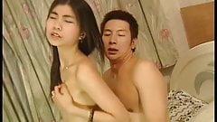 China brunette caught the man masturbation and fuck