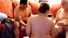 Hot BBW interracial threesome 2