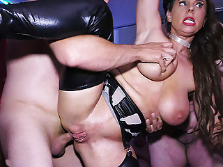 busty milf Sexy Susi rough anal group banged