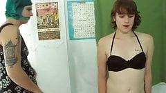 Shemale dominates sissy boy whipping humiliation cim spank