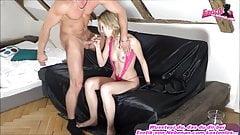 BET - Threesome with skinny blonde german teen model mmf