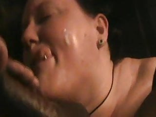 Freaky White Bitch Swallows BBC and gets Load