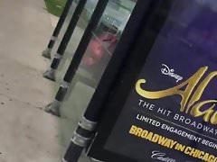 Fat Black Ass At Bus Stop