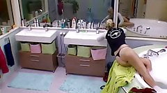 Big Brother NL Hot Blonde Teen Girl undresses before bathing