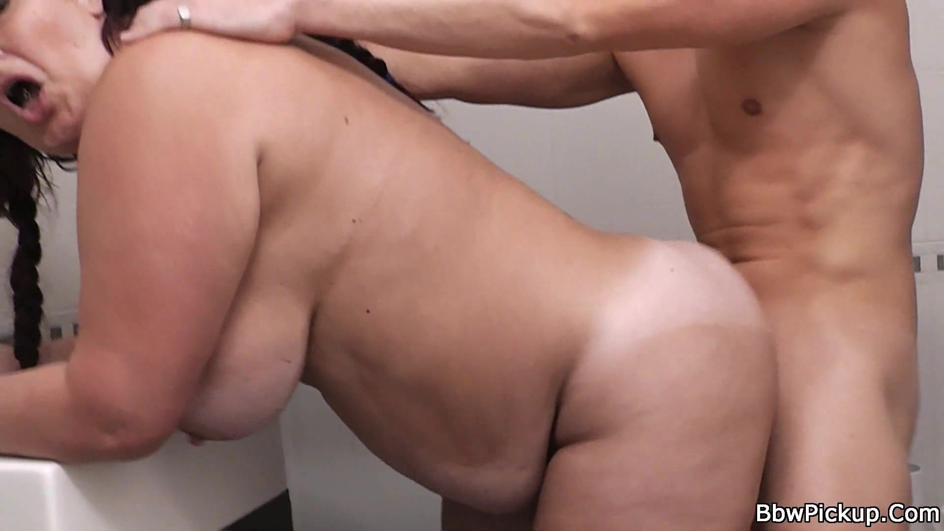fat from woman a behind Fucking