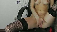young german blond milf masturbation