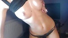 Europian Blonde oiled up and teasing