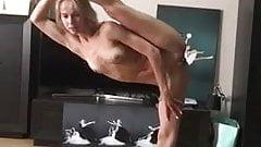 Naked ballet - ballerina dancing