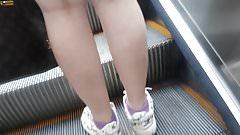 upskirt teen Grey panty