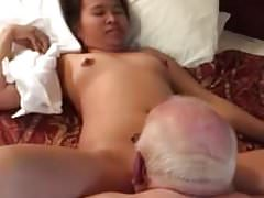 Dad lick a pussy
