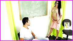 Sexo anal com a Professora novinha