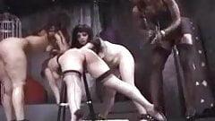 3 way Lesbian Spank