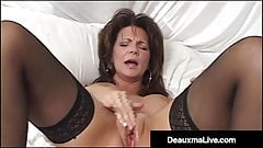 Bed Wetting Cougar Deauxma Shoots Her Cunt Cream On Her Bed!
