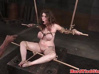 Preview 3 of BDSM sun tied up and toyed by interracial dom