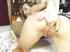 Beautiful Webcam Deepthroat and Anal Fisting
