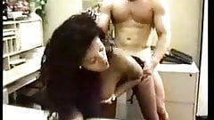 Sexy Black Milf Secretary fuck with Ah Chai