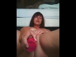 Mature get deep orgasm from rabbit