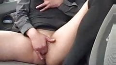 Milf Solo Masturbation in her Car at a parking lot