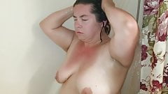 Sexy BBW Takes a Shower and then gets Dirty With a Facial