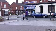 Black dude picks up busty plumper