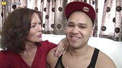 British mother enjoys her boy's big cock