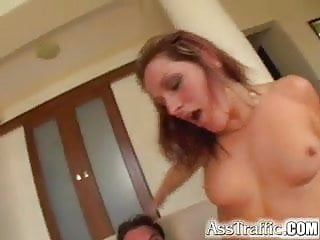 Ass Traffic Ariana is ass fucked hard and then swallows hot