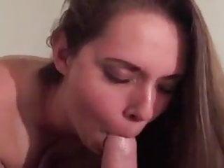 beautiful brunette sucks and fucks 1 - riding pov