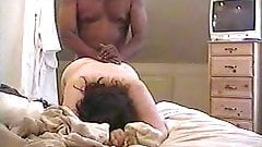 BBW takes it deep from behind (facial view)