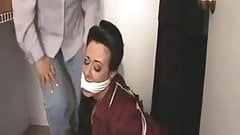 Milf bound and gagged in a closet