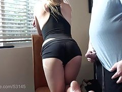 Sexy Smoking Blonde wants cum on her ass's Thumb