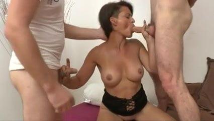 Three cocks for nice milf bvr