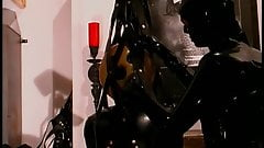 Hot sexy scenes with girl inleather