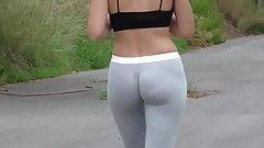Lycra booty and no panties