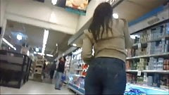 Sexy PAWG in tight jeans at the mall