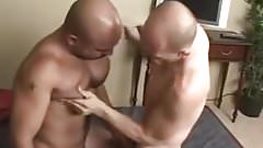 Hot muscle stud getting ass fucked by a bunch of dudes