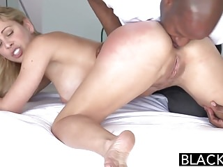 Preview 2 of BLACKED Hot Blonde Cherie Deville Takes Big Black Cock