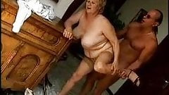 This bbw gran enjoys a good romp with an older guy
