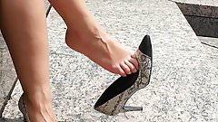 Milf heels dangling
